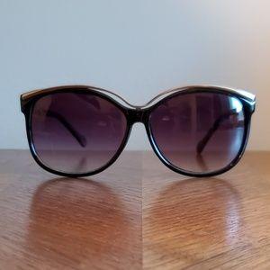 Black & Silver Cat Eye Sunglasses